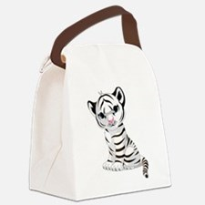 Baby White Tiger Canvas Lunch Bag