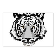 White Tiger Face Postcards (Package of 8)