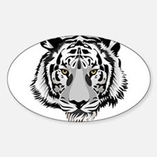White Tiger Face Decal