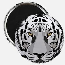 "White Tiger Face 2.25"" Magnet (100 pack)"
