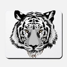 White Tiger Face Mousepad