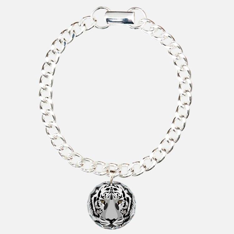 White Tiger Face Bracelet