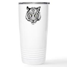 White Tiger Face Travel Mug