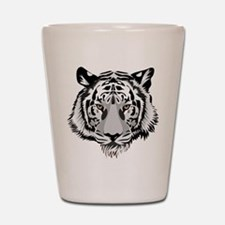 White Tiger Face Shot Glass