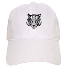 White Tiger Face Baseball Baseball Cap