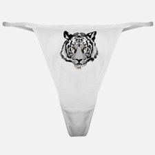 White Tiger Face Classic Thong