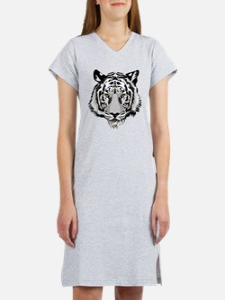White Tiger Face Women's Nightshirt