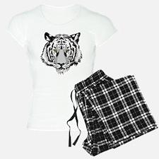 White Tiger Face Pajamas
