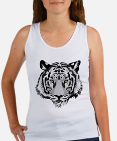 White Tiger Face Tank Top