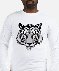 White Tiger Face Long Sleeve T-Shirt