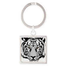 White Tiger Face Keychains