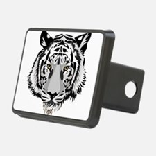 White Tiger Face Hitch Cover