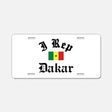 I rep Dakar Aluminum License Plate