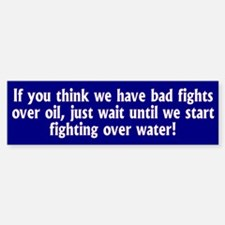 WATER... Bumper Car Car Sticker
