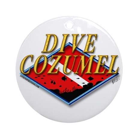 Dive Cozumel Ornament (Round)