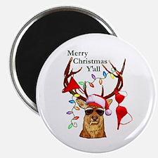 Smoking Redneck Christmas Magnet