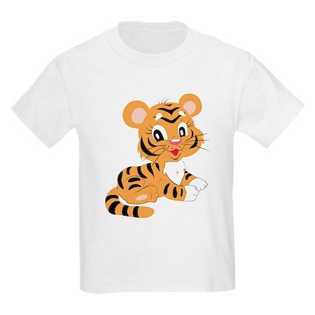 Cute Cartoon Baby Tiger Kids Light T-Shirt Cute Cartoon ... Cute Siberian Tiger Shirt
