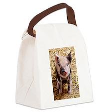 This Little Piggy Canvas Lunch Bag