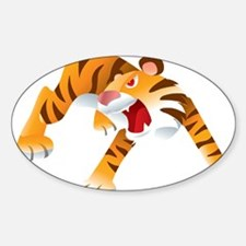 Angry Cartoon Tiger Decal