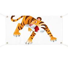 Angry Cartoon Tiger Banner