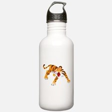 Angry Cartoon Tiger Water Bottle