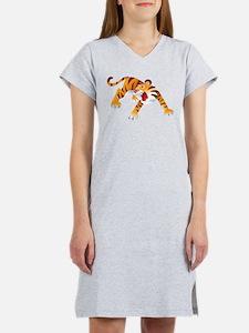Angry Cartoon Tiger Women's Nightshirt
