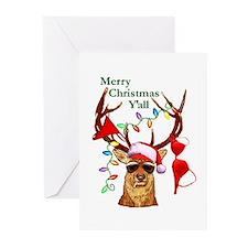 Smoking Redneck Christmas Greeting Cards (Package