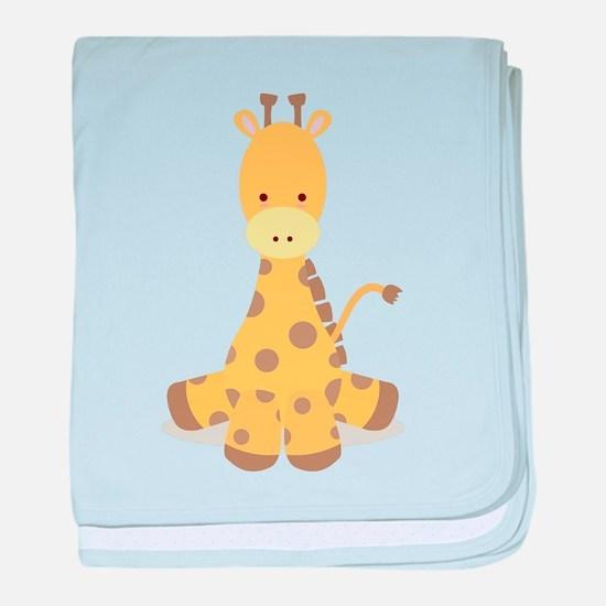 Baby Cartoon Giraffe baby blanket