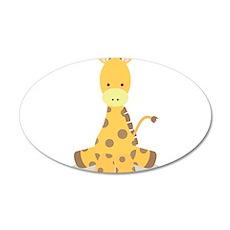 Baby Cartoon Giraffe Wall Decal