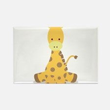 Baby Cartoon Giraffe Rectangle Magnet