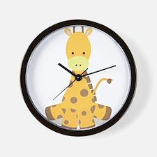 Baby Cartoon Giraffe Wall Clock