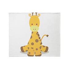 Baby Cartoon Giraffe Throw Blanket