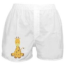 Baby Cartoon Giraffe Boxer Shorts