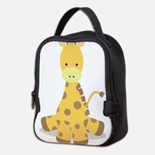 Baby Cartoon Giraffe Neoprene Lunch Bag