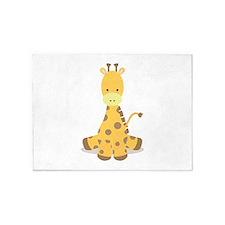 Baby Cartoon Giraffe 5'x7'Area Rug