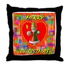 Merry Christmas Angel Throw Pillow