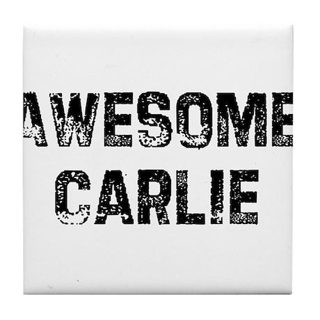 Awesome Carlie Tile Coaster
