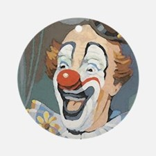 Painted Clown Ornament (Round)