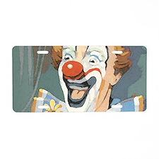 Painted Clown Aluminum License Plate