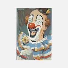Painted Clown Rectangle Magnet