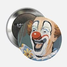 """Painted Clown 2.25"""" Button"""