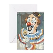 Painted Clown Greeting Card