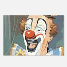 Painted Clown Postcards (Package of 8)