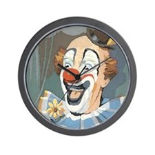 Painted Clown Wall Clock