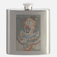 Painted Clown Flask