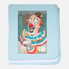 Painted Clown baby blanket