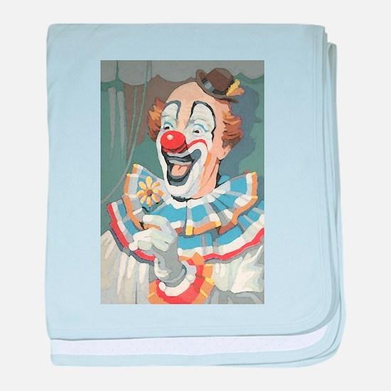 Painted Clown baby blanket
