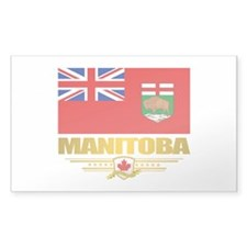Manitoba Flag Bumper Stickers