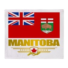 Manitoba Flag Throw Blanket