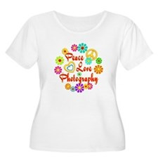 Peace Love Photography T-Shirt